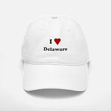 I Love Deleware Baseball Baseball Cap