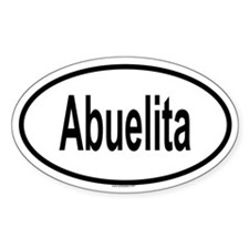 ABUELITA Oval Decal