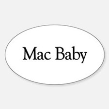 Mac Baby Oval Decal