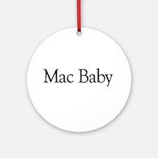 Mac Baby Ornament (Round)
