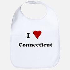 I Love Connecticut Bib