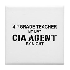 4th Grade Teacher CIA Tile Coaster