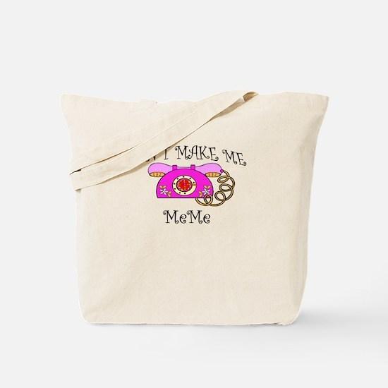 Call Meme with Pink Phone Tote Bag