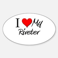I Heart My Riveter Oval Decal