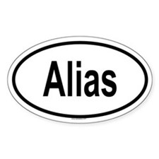 ALIAS Oval Decal
