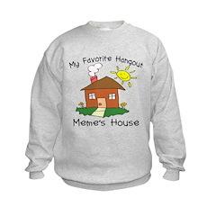 Favorite Hangout Meme's House Sweatshirt