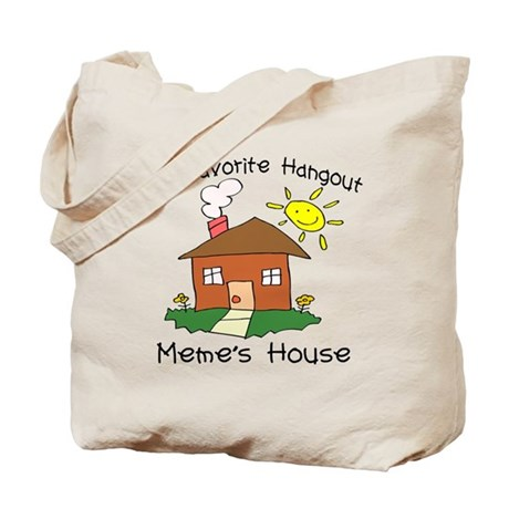 Favorite Hangout Meme's House Tote Bag