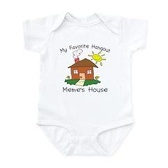 Favorite Hangout Meme's House Infant Bodysuit