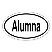 ALUMNA Oval Decal