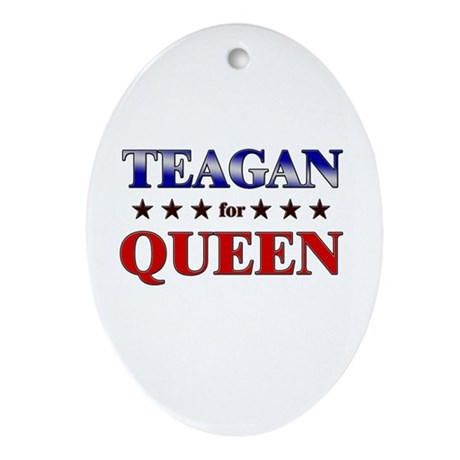 TEAGAN for queen Oval Ornament