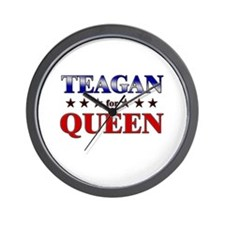 TEAGAN for queen Wall Clock