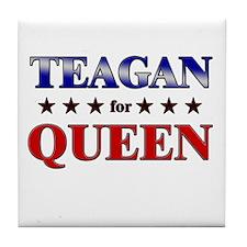 TEAGAN for queen Tile Coaster
