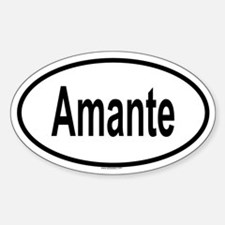 AMANTE Oval Decal