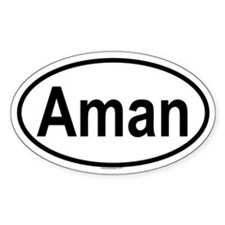 AMAN Oval Decal