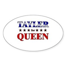 TAYLER for queen Oval Decal