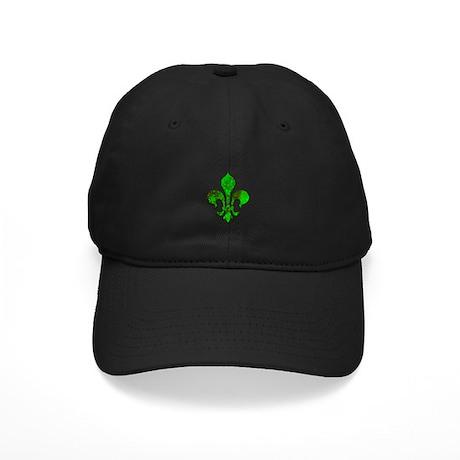 Irish Fleur de lis Black Cap