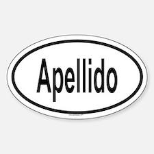 APELLIDO Oval Decal