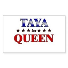 TAYA for queen Rectangle Decal