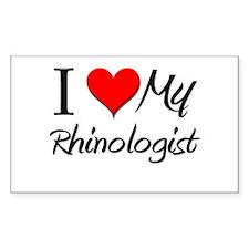 I Heart My Rhinologist Rectangle Decal