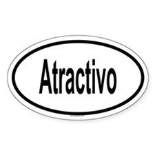 ATRACTIVO Oval Decal