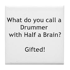 Gifted Drummer Tile Coaster