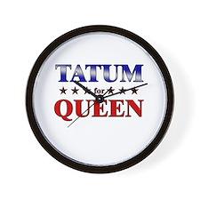 TATUM for queen Wall Clock