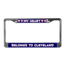My Heart: Cleveland (#008) License Plate Frame