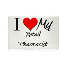 I Heart My Retail Pharmacist Rectangle Magnet