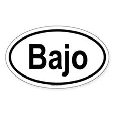BAJO Oval Decal