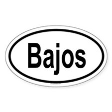 BAJOS Oval Decal