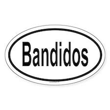 BANDIDOS Oval Decal