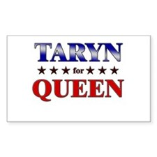 TARYN for queen Rectangle Decal