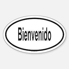 BIENVENIDO Oval Decal