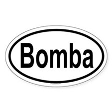 BOMBA Oval Decal
