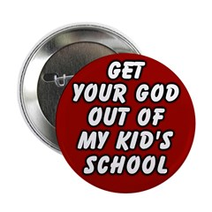 God in the School Button