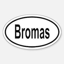 BROMAS Oval Decal
