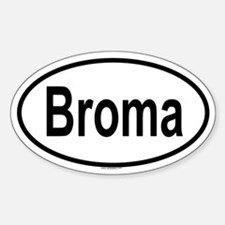 BROMA Oval Decal