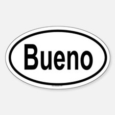 BUENO Oval Decal