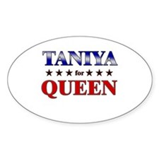 TANIYA for queen Oval Decal