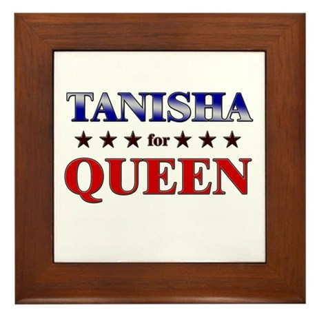TANISHA for queen Framed Tile