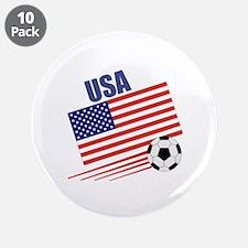"USA Soccer Team 3.5"" Button (10 pack)"