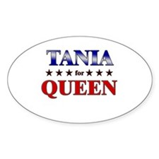 TANIA for queen Oval Decal