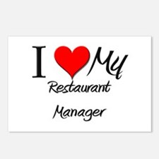 I Heart My Restaurant Manager Postcards (Package o