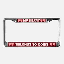 My Heart: Doris (#007) License Plate Frame