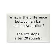 Uzi and the Accordion Rectangle Magnet