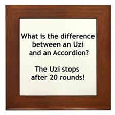 Uzi and the Accordion Framed Tile