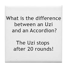 Uzi and the Accordion Tile Coaster