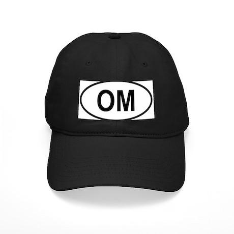 Oman Oval Black Cap