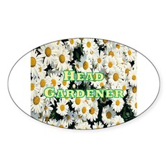 Head Gardener Oval Decal