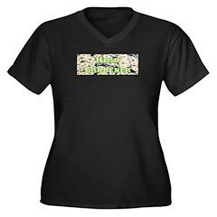 Head Gardener Women's Plus Size V-Neck Dark T-Shir